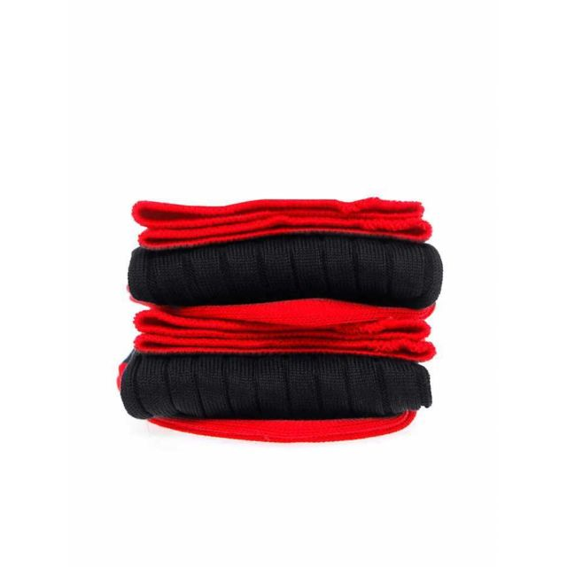 Bruce Field - Chaussettes homme fil d'Ecosse 100% coton noires et rouges Noir / Rouge