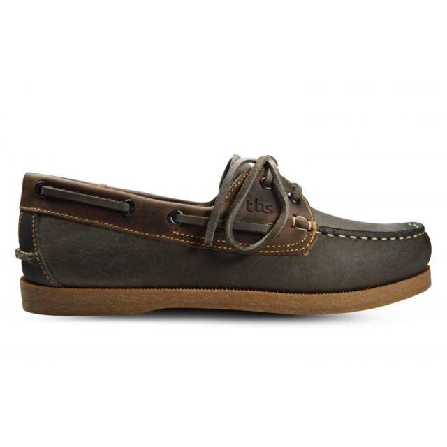 Tbs - Chaussure bateau phenis marron noir + pierre - pas cher Achat ... cdc2b9d337ba