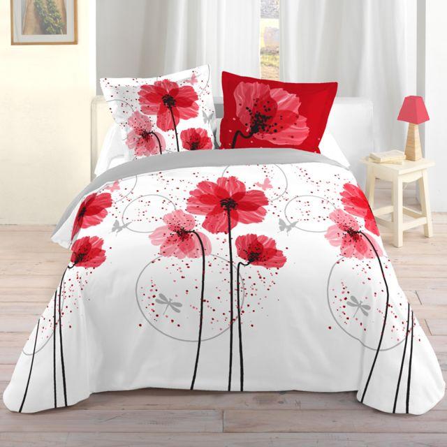 eminza parure de draps 4 pi ces champ tre pas cher achat vente parures de lits rueducommerce. Black Bedroom Furniture Sets. Home Design Ideas