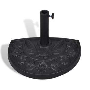 Rocambolesk Superbe Pied /Base de parasol semi-circulaire en résine neuf