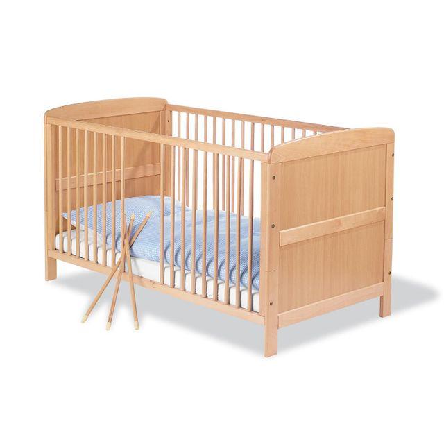 COMFORIUM - Lit de bébé évolutif 70x140 cm à barreaux en bois massif ...