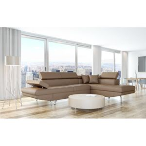 usinestreet canap d 39 angle droit convertible avec coffre taupe rio achat vente canap s pas. Black Bedroom Furniture Sets. Home Design Ideas