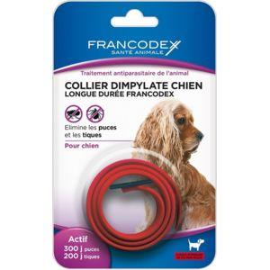 Francodex - Collier Dimpylate Chien Longue Duree Couleur Rouge