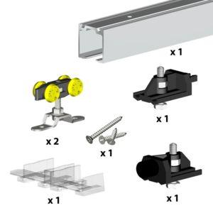 wimove syst me coulissant herkules pour 1 porte jusqu 39 1500 mm rail 3 m 60 kg. Black Bedroom Furniture Sets. Home Design Ideas