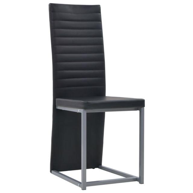 Icaverne Chaises de cuisine et de salle à manger selection Chaise de salle à manger 2 pcs Similicuir 38,5x52x100,5 cm Noir