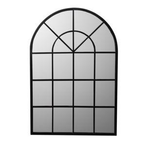 Mathilde et pauline miroir grande demeure en m tal arrondi 92x135cm alix noir 0cm x 0cm for Miroir arrondi