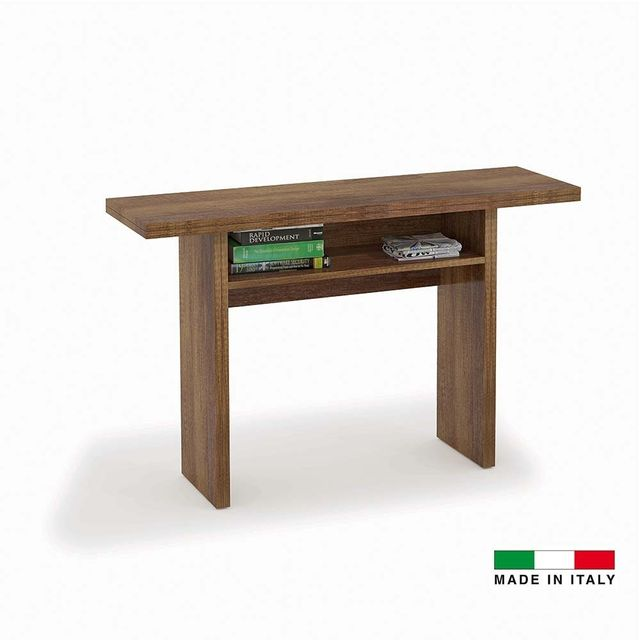 Made In Italia Console Extensible Julia Bois Noyer Marron