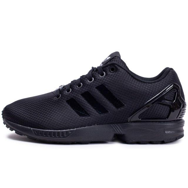 Adidas Zx Flux Noir Argent pas cher Achat Vente