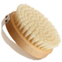 Ecodis - Brosse de massage, en bois et soie naturelle