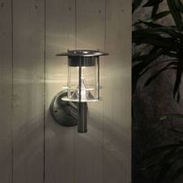 Star Trading - Solar - Applique d'extérieur Solaire Led Chrome H24cm - Luminaire d'extérieur Best Season designé par