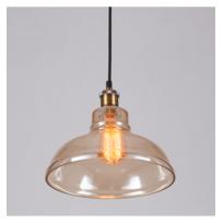 Kosilum - Luminaire style loft industriel ambré transparent - Cooper