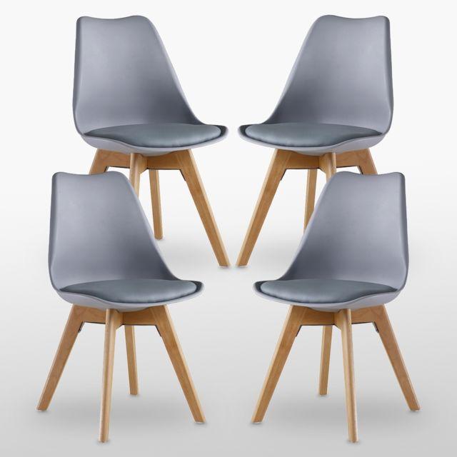 Home Design International Lot de 4 Chaises Scandinaves