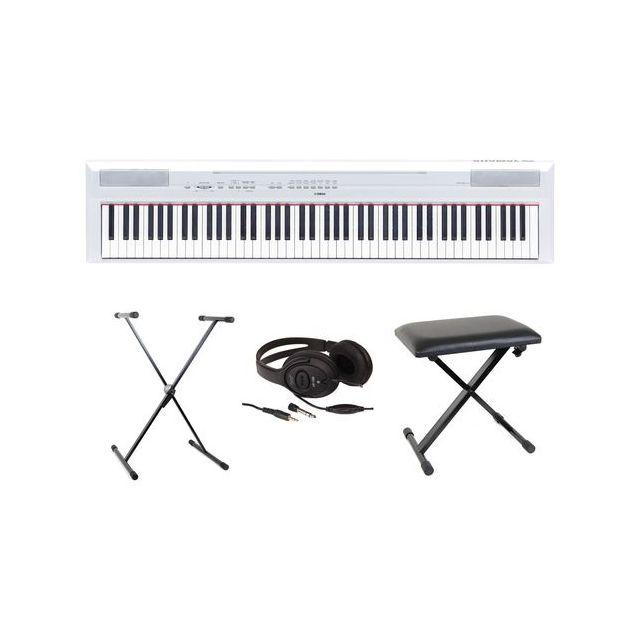 yamaha pianos num riques full pack p115 blanc pianos num riques portables nouveaute pas cher. Black Bedroom Furniture Sets. Home Design Ideas