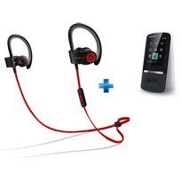 BEATS - Ecouteurs Power 2 Bluetooth Black + Lecteur Mp4 Sony Bluetooth