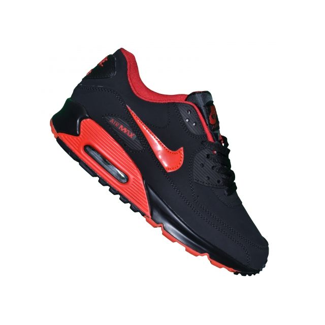 Nike - Basket - Homme - Air Max 90 Essential 74 - Noir Rouge ...