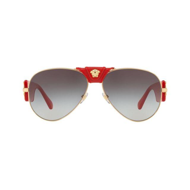 f8f5a0235cb732 Versace - Ve-2150-Q 100211 Or métalisé - Rouge brillant - Lunettes de soleil  - pas cher Achat   Vente Lunettes Tendance - RueDuCommerce