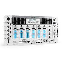 IBIZA - DJM-102 Mixer 4 Canaux LED Effets Echo Battle Blanche
