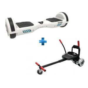 urban glide hoverboard wayglide 65 blanc kart 6 5 39 39 et. Black Bedroom Furniture Sets. Home Design Ideas