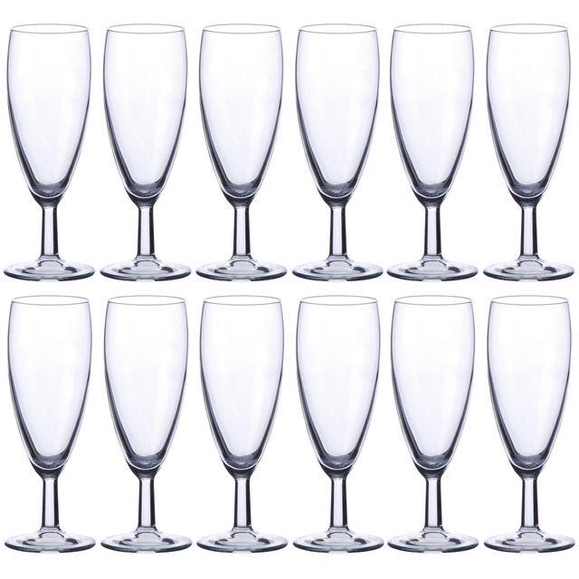 cb05ceff12e3f6 Promobo - Set Lot Service 12 Flûtes Coupe Coupette Champagne 15cl Verre
