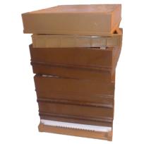 Apimiel - Ruche Dadant 10 cadres en Plastique anti-varroas Simple