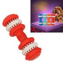 Wewoo - Jouet pour Animaux compagnie Nettoyage dents Chewing Haltères Forme Jouets en caoutchouc souple non toxique grande taille longueur: 15cm rouge chien