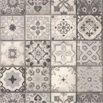 - Vinyl effet papier peint carreau ciment gris 235 g/m²