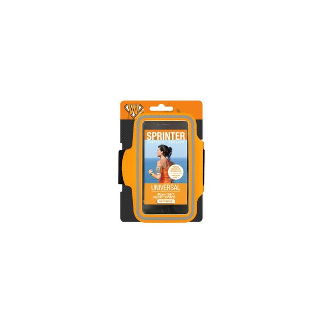 Wantalis - Brassard Sprinter Orange Taille Universelle