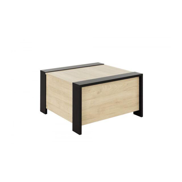 Calicosy Table basse avec rangement bar Aurora - Fabrication Française