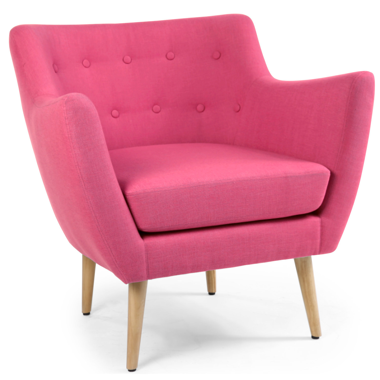 Fauteuil scandinave Molly Tissu Rose