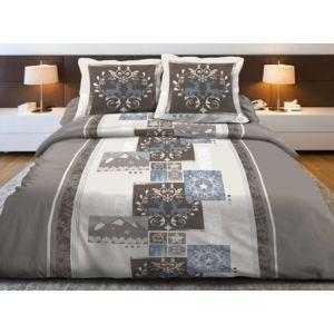 le linge de jules parure drap plat drap housse 140x190 2 taiespur coton 57 filsmountain. Black Bedroom Furniture Sets. Home Design Ideas