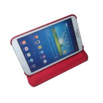 CLEVERLINE - Etui rotatif pour Samsung Galaxy Tab 3 - 8'' - Rouge