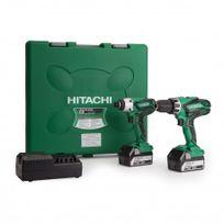 Hitachi - Pack Kc18DGL Perceuse/Visseuse à Percussion Dv18DGL Visseuse à Chocs Wh18DGL 18V 2x5,0Ah