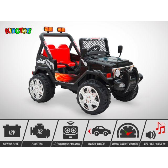 Kingtoys Quad électrique enfant - 4X4 Mountain 70W - Noir