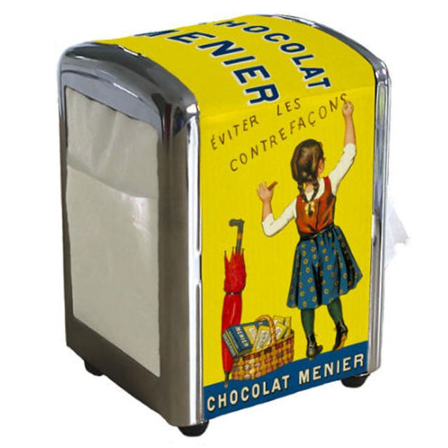 Petit Jour Paris Distributeur à serviettes Chocolat Menier