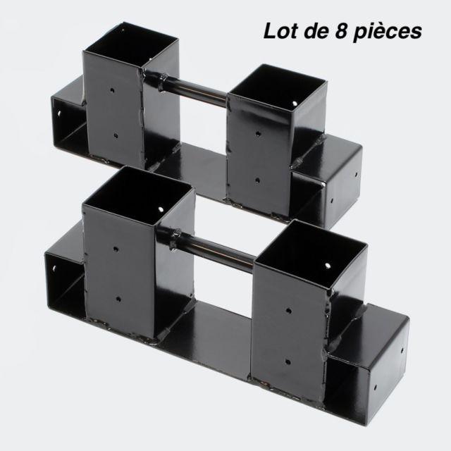 aqua occaz 8 supports en m tal pour rangement du bois de chauffage 051462 pas cher achat. Black Bedroom Furniture Sets. Home Design Ideas