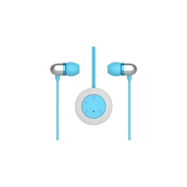 Auto-hightech Écouteur style pendentif avec Bluetooth 4.0 et micro - Bleu