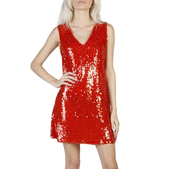 Buzzao - Robe sans manche rouge à paillettes - pas cher Achat   Vente Robes  - RueDuCommerce 37ad5c2e18f4