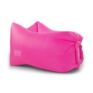 seatzac coussin gonflable lumineux 120x70x90 cm rose coussineo pas cher achat vente pouf. Black Bedroom Furniture Sets. Home Design Ideas