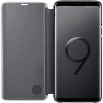 Clear View Standing Cover Galaxy S9 Plus - Noir