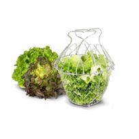 La Bonne Graine - Panier à Salade Pliant Inox 25 Cm Avec Raidisseurs