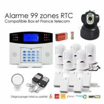 SecuriteGOODdeal - Alarme Animal sans fil de 99 zones Xxl et caméra Ip