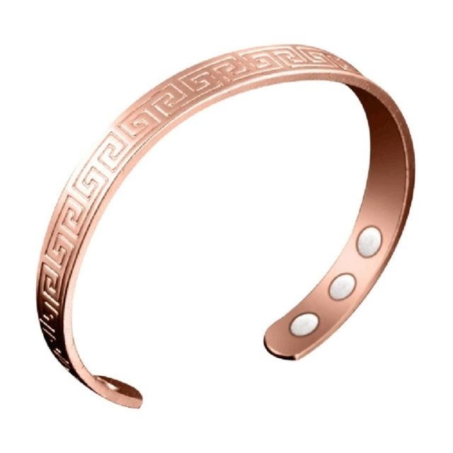 Wewoo - Bracelet rouge L Europe et l Amérique Amants Style Ouvert Rose  Cuivre 4c39b3b3a21