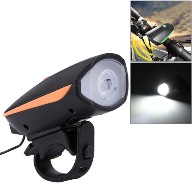 250lm Avec Vélo Eclairage Lumière Led Usb 3 Vive Corne Et Modes 125 Rechargeable Orange Guidon MpzVSUjLqG