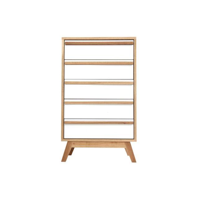 Miliboo Chiffonnier/Semainier 5 tiroirs design scandinave Helia