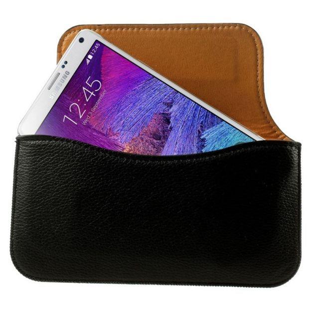 Amahousse - Etui Ceinture Noir compatible Samsung Galaxy Note 4 Ultra fin -  pas cher Achat   Vente Etui et housse téléphone - RueDuCommerce 88eabe33ab2