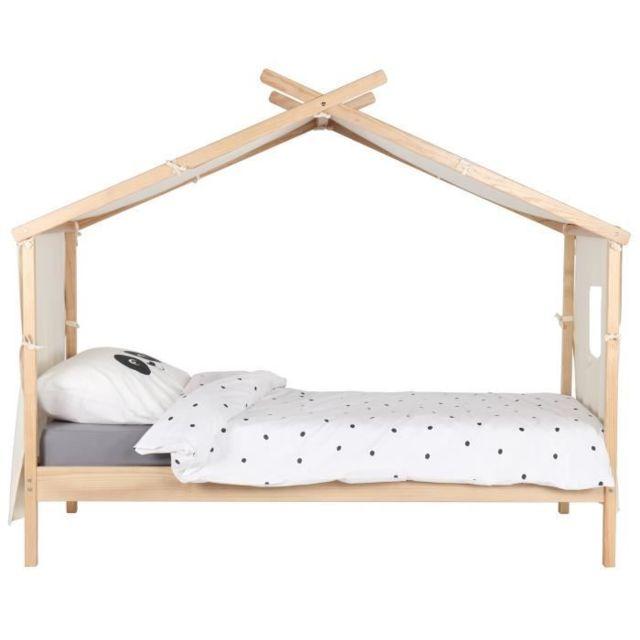 Merveilleux GÉNÉRIQUE   Structure De Lit Alouette Lit Enfant Cabane Scandinave   Bois  Et Placage Pin