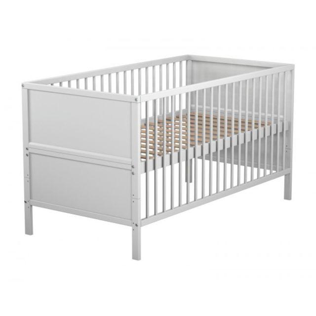TERRE DE NUIT Lit bébé évolutif blanc 70x140