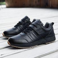 Chaussures Souliers de coton décontractés froids imperméables antidérapants pour hommes, milieu et vieux couleur: noir taille: 44