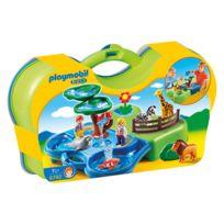 1 2 3 - Zoo transportable avec bassins aquatiques - 6792