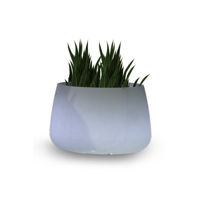 new garden pot de fleurs lumineux solaire camelia 60 de basse hauteur pas cher achat vente. Black Bedroom Furniture Sets. Home Design Ideas